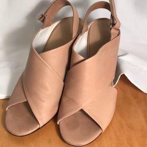 Tan high heals sandals